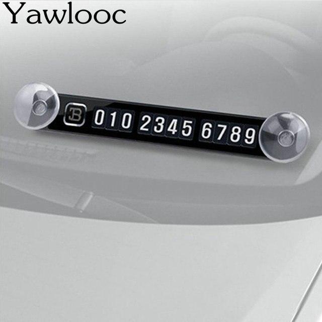 Dianteira do carro Ventosa Cartão de Estacionamento Temporário Adesivos Ímã Placas de Número de Telefone Universal Auto Acessórios