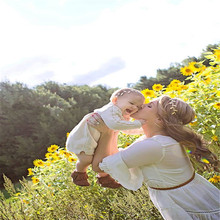 Baby Headband With Flower Girl Photo Shoot Newborn Photography Props For Studio Princess Headwear Flower Hair Accessories Photo(China)