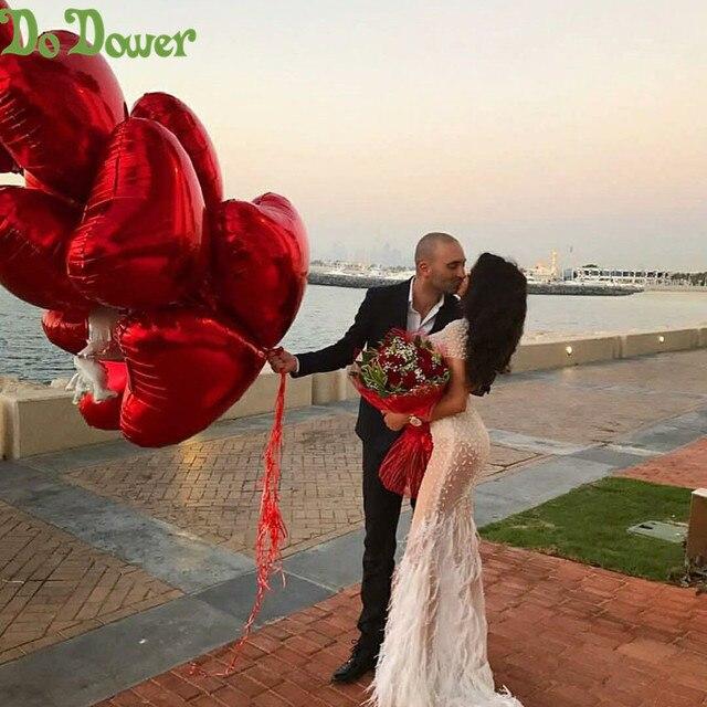 Balões infláveis de alumínio de 18 polegadas, balões de hélio infláveis para decoração de coração e amor de 18 polegadas, dia dos namorados, casamento, eu te amo globos