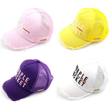 Korean Fashion Baseball Caps For Kids Boys Girls Retro Design Letter Net Cap Outdoor Sunscreen Breathable Hats