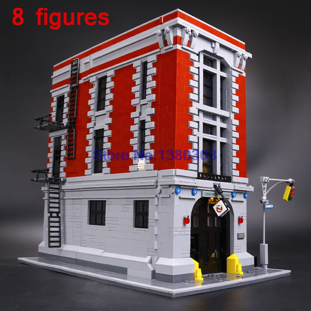 16001 Lepin Ghostbusters Firehouse Headquarters Model Building Block