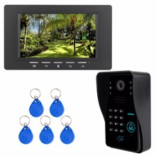 7″ Color TFT LCD Video Door Phone System Wired Visual Dual-way Intercom With RFID ID Card Doorbell For Home Apartment F3367A