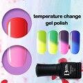 BD 6 unids/lote Térmica Que Cambia de Color Cambio de Temperatura de Color de Uñas de Gel UV Gel Polaco Camaleón Empapa Del Clavo Del Salón arte