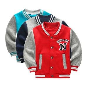 Image 1 - Wiosna jesień dzieci płaszcz wzór w napisy Student odzież baseballowa chłopcy bluza dziewczyny bluzy Casual dziecięca kurtka odzież wierzchnia