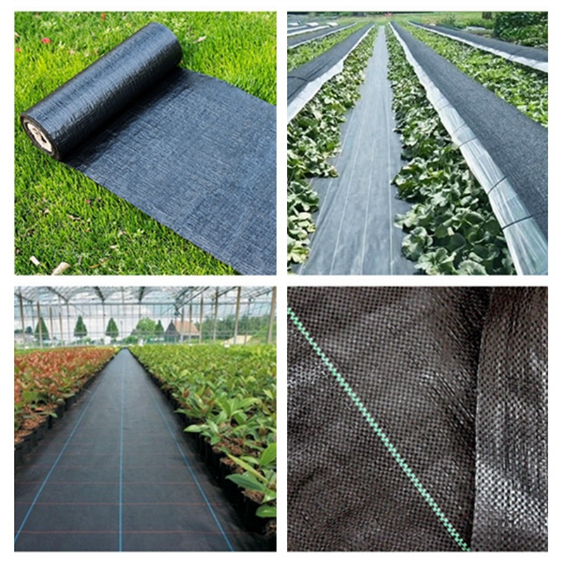 Length 5m Garden Weed Barrier Fabric Agriculture Greenhouse Weed Control Orchard Plant Weeding Cloth PE Braiding Ground Cloth