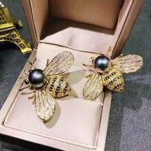 Высококлассный микроскоп Циркон медовая пчела брошь модные ювелирные изделия