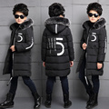 2016 winter wadded jacket children's clothing child thickening medium-long outerwear child winter cotton-padded boys coats