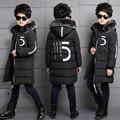 2016 зима ватные куртки детская одежда ребенка утолщение средней длины верхняя одежда ребенка зимой хлопка мягкой мальчиков пальто
