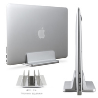 Aluminum Vertical Laptop Stand Adjustable Desktop NoteBooks Holder Erected Space Saving Stand For MacBook Pro Air