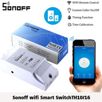 Sonoff TH10 16 Temperature And Humidity Monitoring WiFi Smart Switch Real Time Display 10 16A IOS