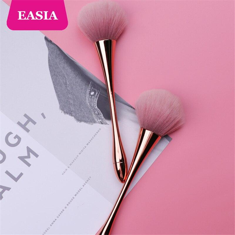 Rosegold Powder Makeup Brush Dense Soft Big Blush Brush for Loose Compact Powder Make up Fan Brush with Box 3