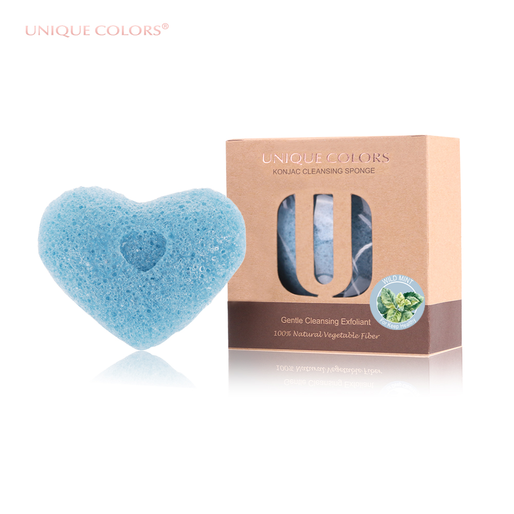 UNIQUE COLORS 100% Natural Konjac Sponge Facial Exfoliator Cleansing Makeup Washing Puff Cosmetic Face Make Up Puff Konjaku deep face cleansing brush facial cleanser 2 speeds electric face wash machine
