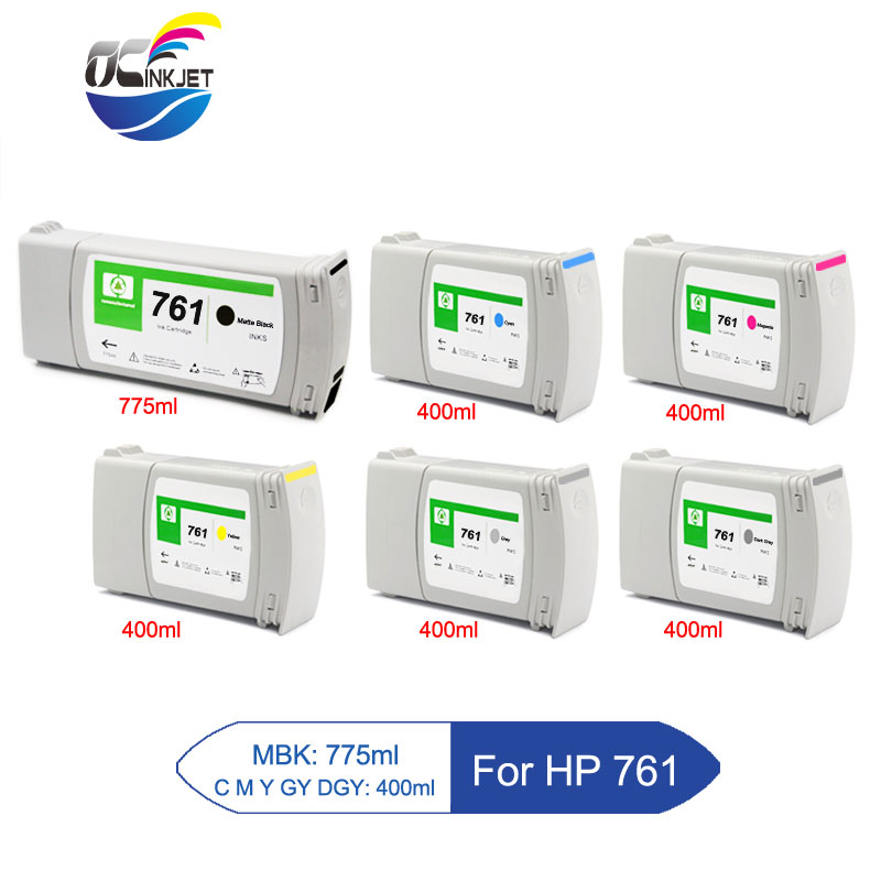 Third Party For HP 761 Remanufactured Ink Cartridge Full With Ink For HP DesignJet T7100 T7200 Printer With New Version Chip image