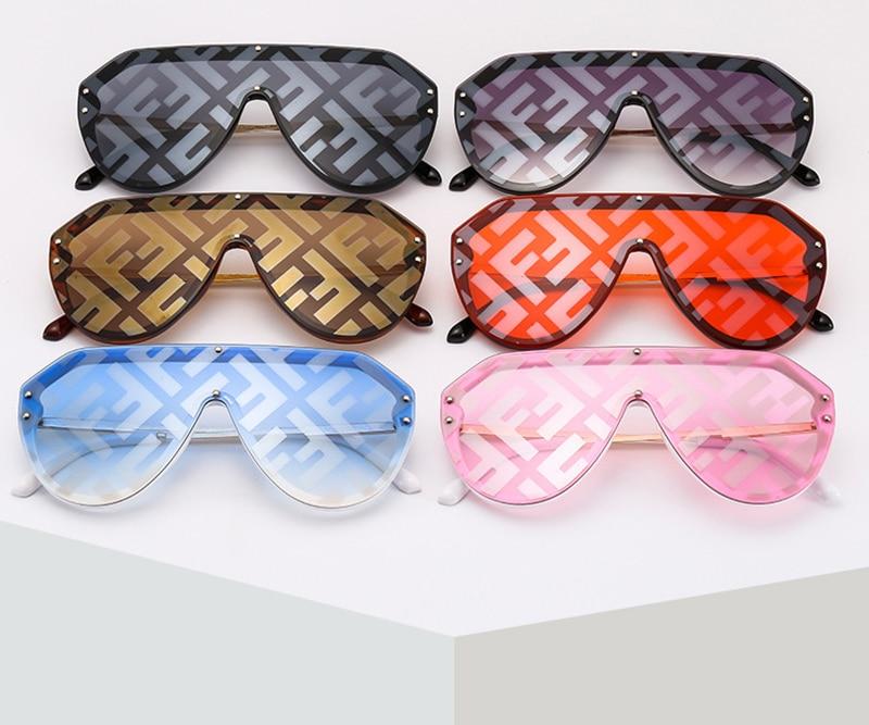 2019 New F Watermark One-piece Sunglasses PC Copy Film Men Women Sunglasses Girls Personality Colorful Fashion Wild Sun Glasse (4)