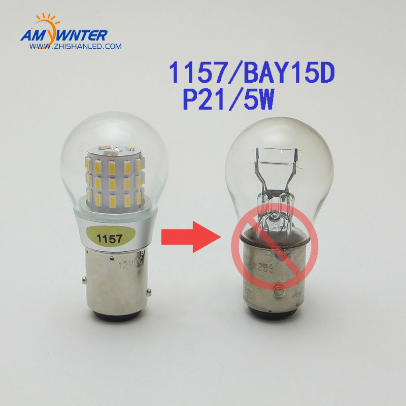 400LM P21/5W LED Rear Tail Brake Stop Lights 1157 S25 Parking Light Bulb 39SMD 3014 Chip 12V Car BAY15D Socket Lamp