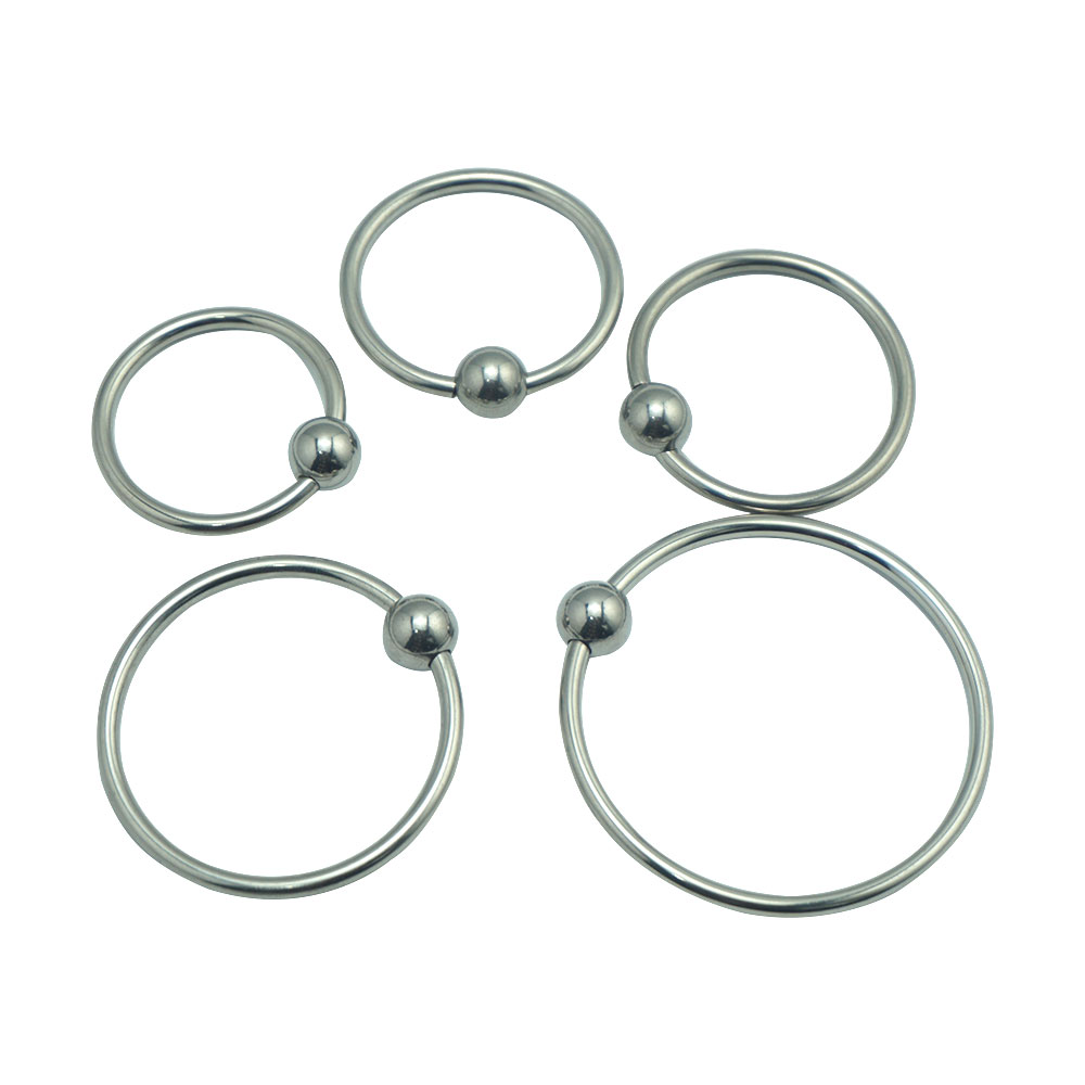 Dia 28/32/35/40/50mm as 1 set Top quality stainless steel metal ball penis head glans bondage cock ring erection sex toy for men erection ring set package of 4