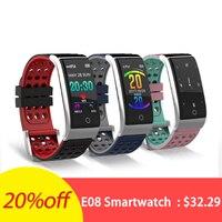 E08 ECG EKG Blood Pressure Monitor Fitness Tracker 0.96 inch Color Screen UI IP67 Waterproof Long Standby Smart Watch Men Women