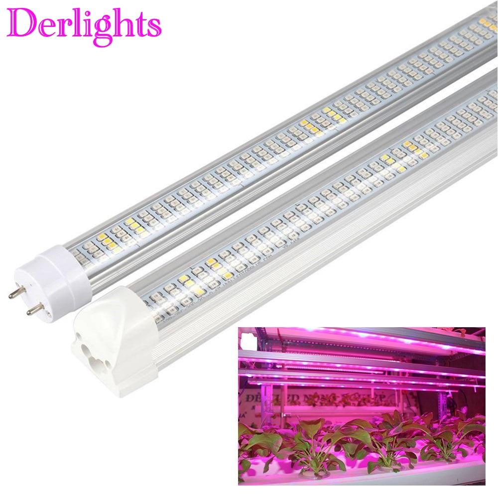30W 60cm T8 Tube LED Grow Light Full Spectrum 85V~265V LED Strip Lighting Hydroponic Greenhouse Grow Tent Growth Lamp For Plants