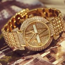 2019 luxe diamant femmes montres mode en acier inoxydable Bracelet montre Bracelet femmes conception montre à Quartz horloge relogio feminino