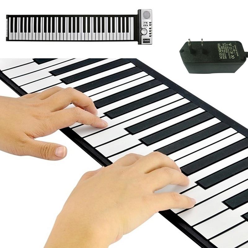 Nouveautés Professionnel Portable Électronique Roll Up Souple Pianos pour L'enseignement À Domicile Débutant 61 Touches Clavier Instrument Pièces