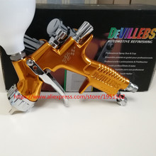 Hvlp Профессиональный пистолет золотой краской пистолет Автомобильная guns инструменты для покраски автомобилей Пистолет Краски TTS GTI PRO te20