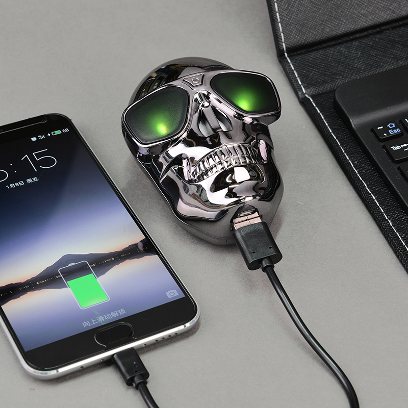Cool New Universal 8000mah Skull Power Bank Mobile Charger External Battery Pack Fast Charger For Iphone Samsung Smartphone Gift Charger Notebook Charger Boardcharger Lead Acid Battery Aliexpress