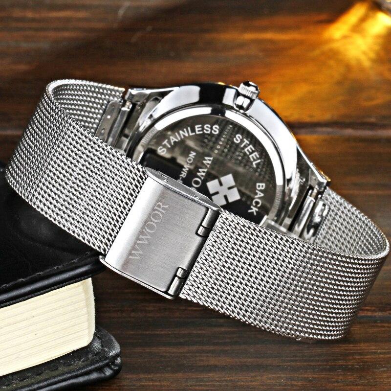 Super slim Quartz Casual Armbandsur Business Top Brand WWOOR - Herrklockor - Foto 5