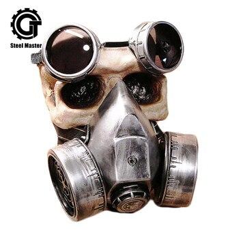 Мода готический ретро стимпанк Косплэй противогазы серебро Смола очки заклепки респиратор аниме вечерние Хэллоуин панк костюм реквизит