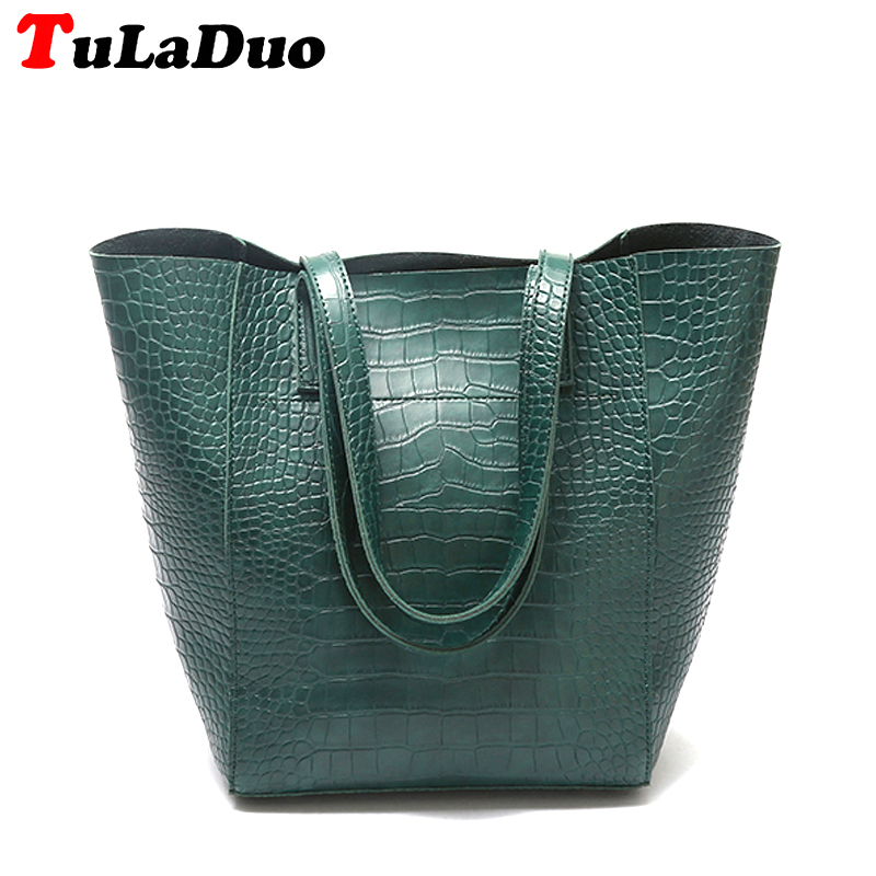 Alligator Luxury Shoulder Bags Women Designer Handbags High Quality Large Leather Tote Women Bags Big Shoulder Totes Fashion PU