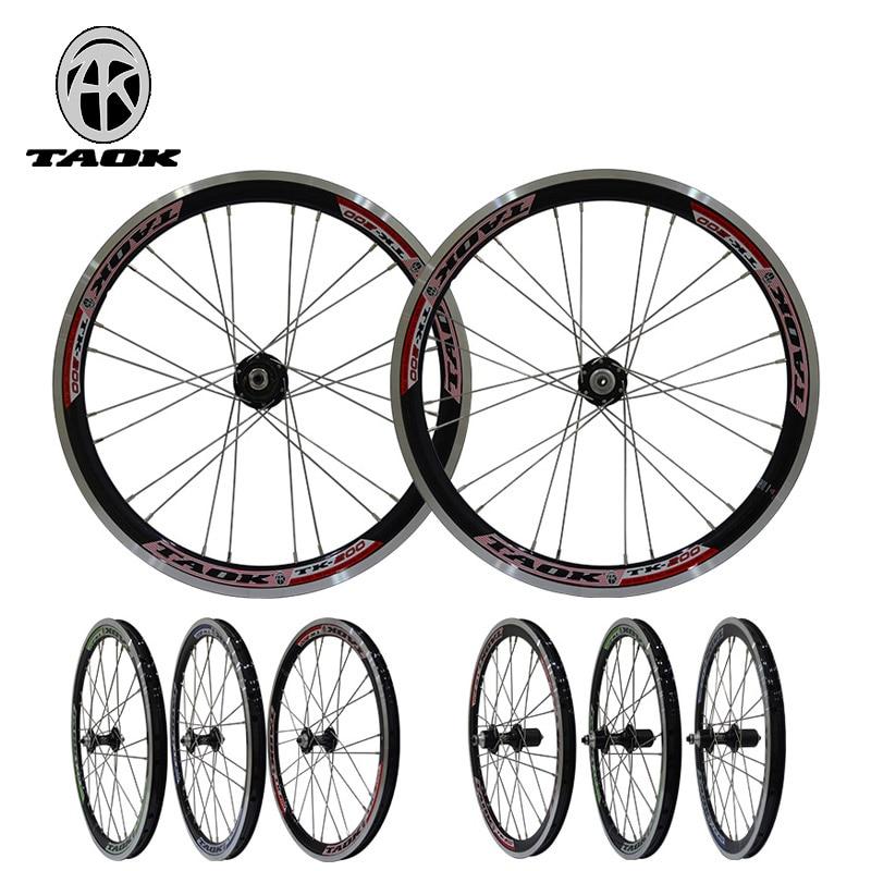 20 inch folding bicycle mtb wheels V brake Aluminum Alloy wheel bicycle aluminum wheels 20 hollow wheel bicycle one piece aluminum alloy wheel wire whole felly rim