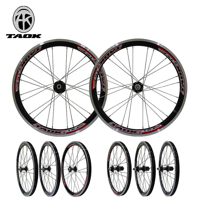 20 inch folding bicycle mtb wheels V brake Aluminum Alloy wheel bicycle bicycle wheel 29 inch mtb 28 holes 6061 aluminum alloy cnc disc brake wheels 4 bearing wheels 8 9 10 11 speed bicycle parts