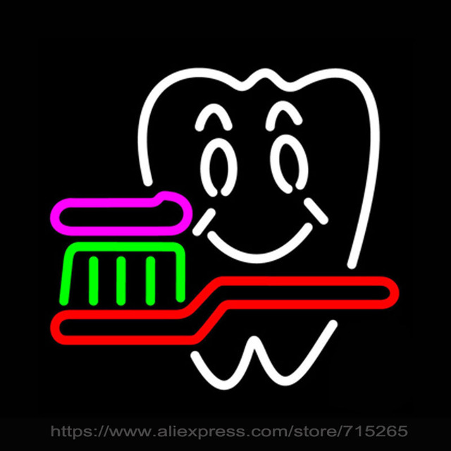 Neon Sign Real Glass Bulb Dentist Logo Bar Pub GUITAR Shop Display FREE DESIGN Handcrafted