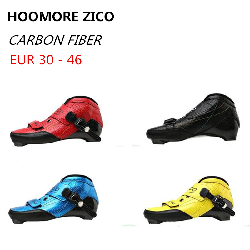 Inline Speed Skates Boot EUR 30 to 46 Carbon Fiber 165mm 195mm Mounting Distance Black Red Blue Advanced Racing Upper Shoes