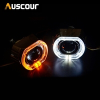 3 inch for bmw Koito Q5 Bixenon hid projector lens drl day runing angel eyes shrouds Mask LHD RHD headlight