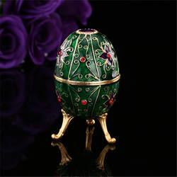 Qifu Новое поступление зеленый Яйцо Фаберже держатель ювелирных изделий