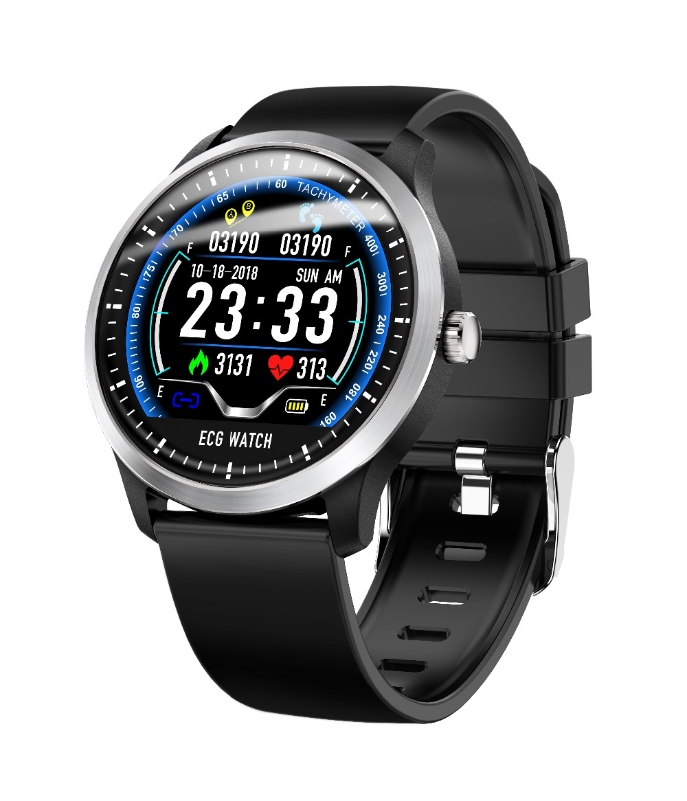 696 N58 ECG PPG Smart Watch Electrocardiograph ECG Display Measurement Leather and Steel Blood Pressure Men Smartwatch Women