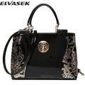 Elvasek 2016 new women leather bags fashion women handbags embroidery style print handbags women messenger bag pouch LS7354