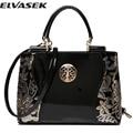 Elvasek 2016 new women leather bags fashion women handbags embroidery style print handbags women messenger bag pouch LS7354
