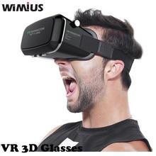 Wimiusแว่นตา3D VR 360ดูที่สมจริงความจริงเสมือนG Oogleกระดาษแข็งสำหรับip hone A Ndroidเกมบลูทูธควบคุม
