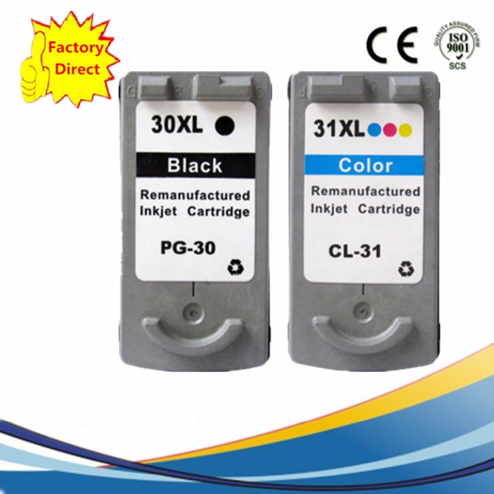 PG 30 PG30 PG 30 CL 31 CL31 CL 31 Ink Cartridges Remanufactured Pixma iP1800 iP2600 MP140 MP210 MP470 MX300 MX310 in Ink Cartridges from Computer Office