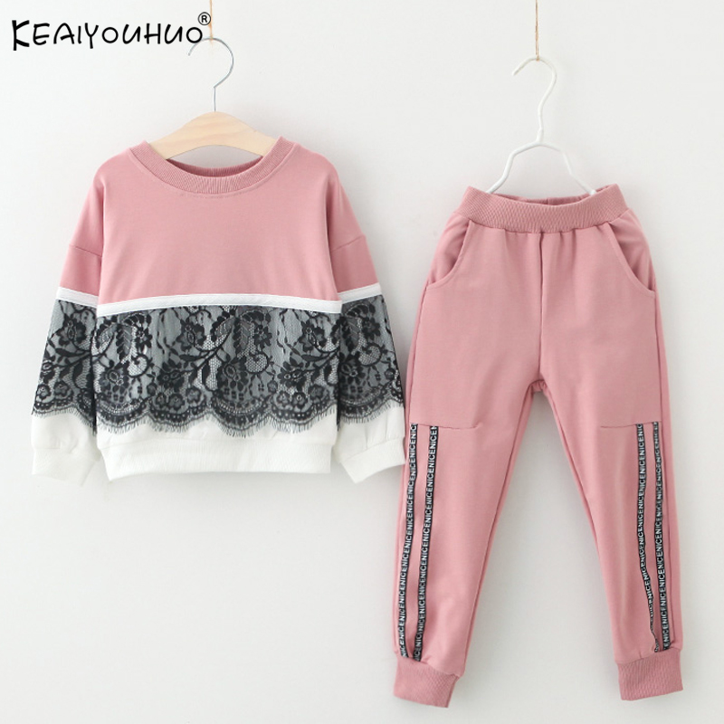 Spring Autumn Kids Clothes Sets Tracksuit For Girls Sport Suit Toddler Clothes Outfits Suits Children Clothing 3 4 3 5 6 7 Years 2018 spring autumn baby boy tracksuit clothing 2pcs set cotton boys sports suit children outfits 2 3 4 5 6 7 years kids clothes