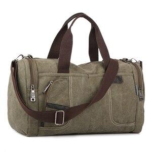 Image 4 - Coreano 2020 novo simples dos homens bolsa casual selvagem grande capacidade saco de lona moda personalidade bolsa de ombro moda bolsa de viagem