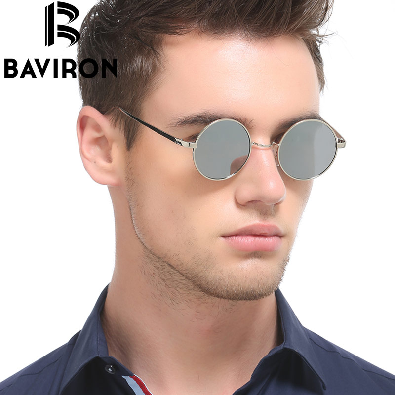 275d3907d68 BAVIRON Hippie Steampunk Sunglasses Male Polaroid Lenses Glasses Retro  Classic Men Thin Alloy Metal Flat Retro Sunglasses -in Sunglasses from  Apparel ...