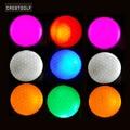 Гребень для гольфа 10 шт. светодиодный мячи для гольфа ночного тренировочные мячи для обучения игре в гольф два Слои мячи для гольфа 6 цветов ...
