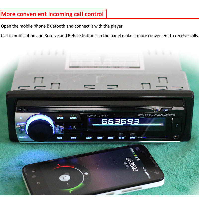 Wholesale Black Bluetooth Vintage Car Radio Mp3 From China: 2019 12V Car Radio MP3 Audio Player Bluetooth AUX USB SD