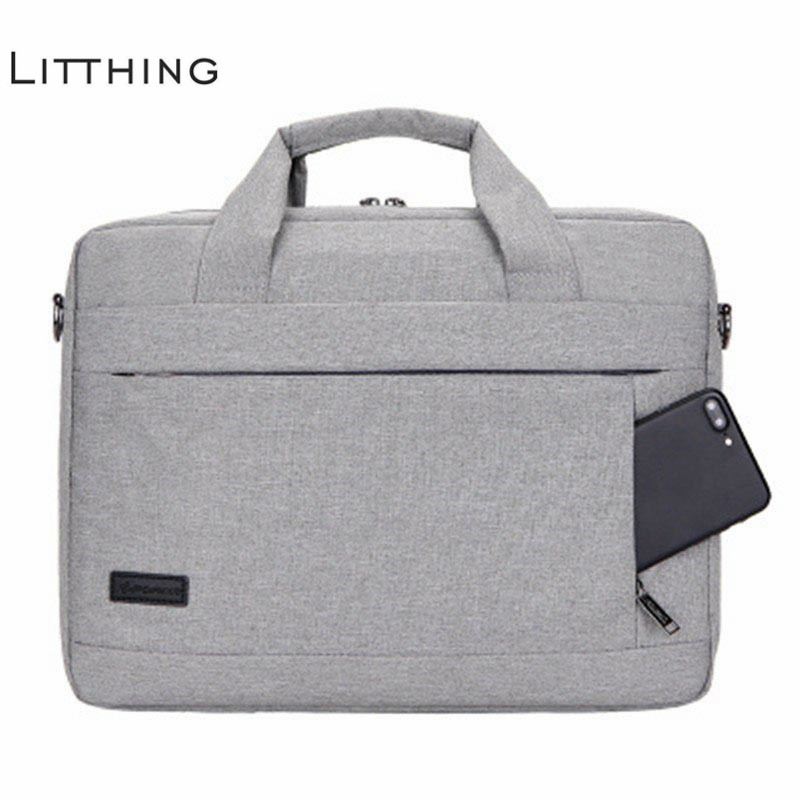 Litthing Large Capacity Laptop Handbag for Men Women Travel Briefcase Bussiness Notebook Bag for 14 15 Inch Macbook Pro PC(China)
