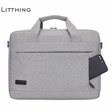 20930beb5590 Litthing большой ёмкость сумка для ноутбука для мужчин женщин Путешествия  Портфели Бизнес тетрадь 14 15 дюймов Macbook Pro PC