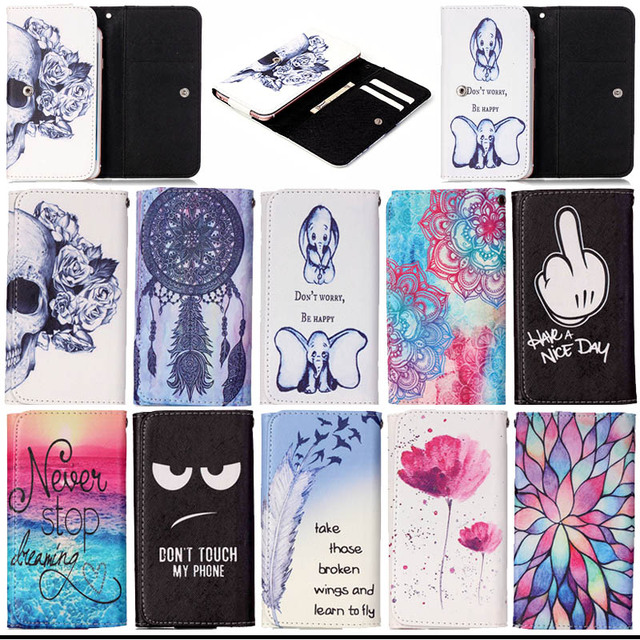 Beautiful Painting PU Leather Flip Cover Case Fundas For Jiayu G2 G3 G4 G5 Universal Phone Bags Wallet with Card Holder S5C53D