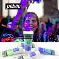 5 pçs/lote 100 ml pebeo luminoso acrílico tintas definir brilho no rosto escuro corpo pintura noite luz fosforescente tatuagem dia das bruxas