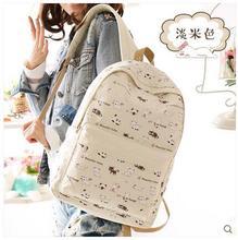 Прекрасный студент мешок Японский и Корейский версия волна холст путешествия рюкзак сумка холщовый мешок